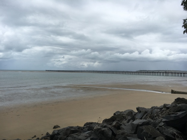 the urangan pier low tide