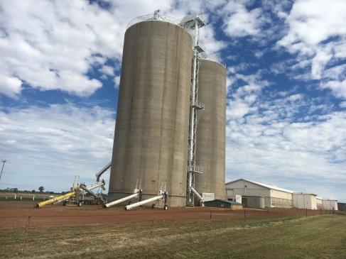 Grain silos in Wullumbia, QLD
