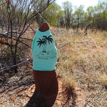 Decorated Termite Mound - Blue shirt
