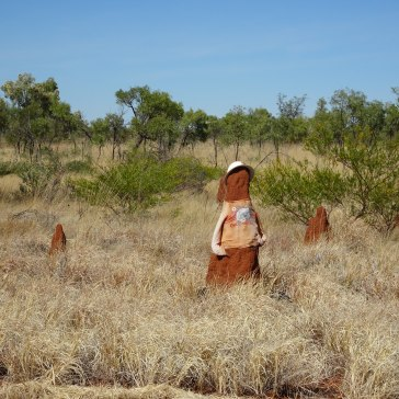 Decorated Termite Mound - Hat